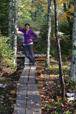 Sarah at our first Acadia trip