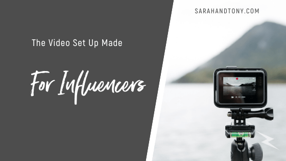 video set up for influencers