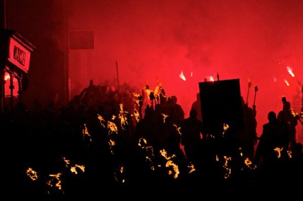 Bonfire Night Grand United Parade, Lewes, Sussex