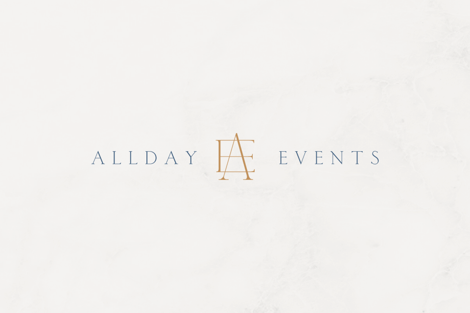 Wedding Planner Branding Design: Allday Events | Sarah Ann Design
