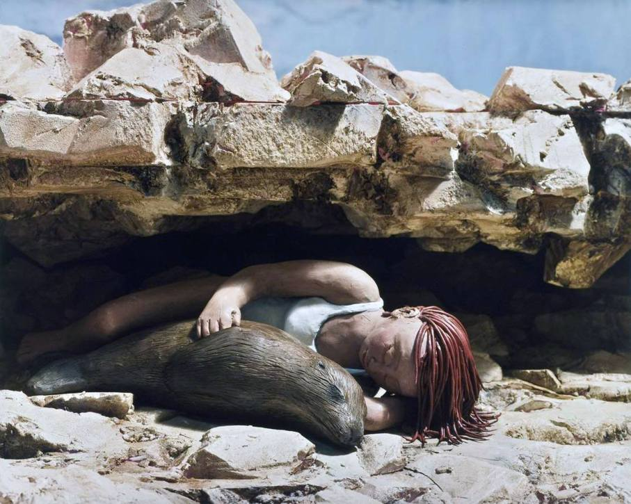Snuggling with a Sea Lion - 2005 - 16 x 20 - Chromogenic Print