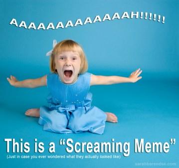 Screaming meme