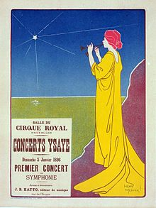 Poster for the Concerts Ysaye. 1895.