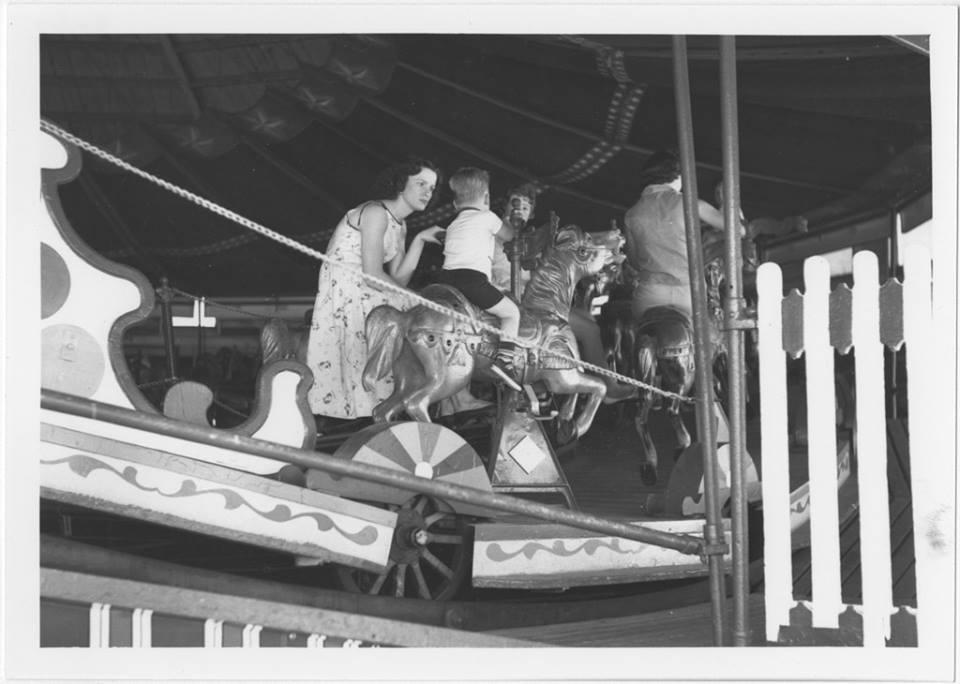 Merry go round, Fair Park, Little Rock Arkansas. Undated photograph.