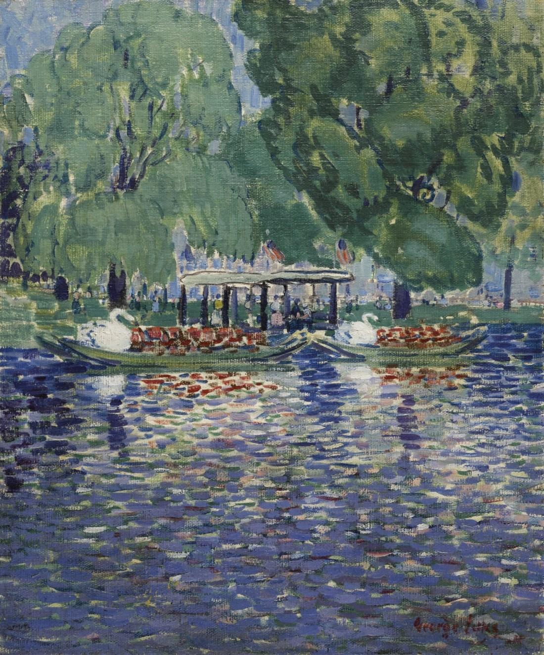 """The Swan Boats."" ca. 1922."