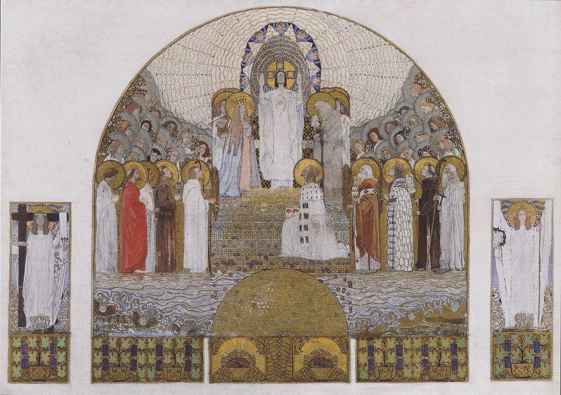 Design for a mosaic for the main altar, Church Am Steinhof. 1905.