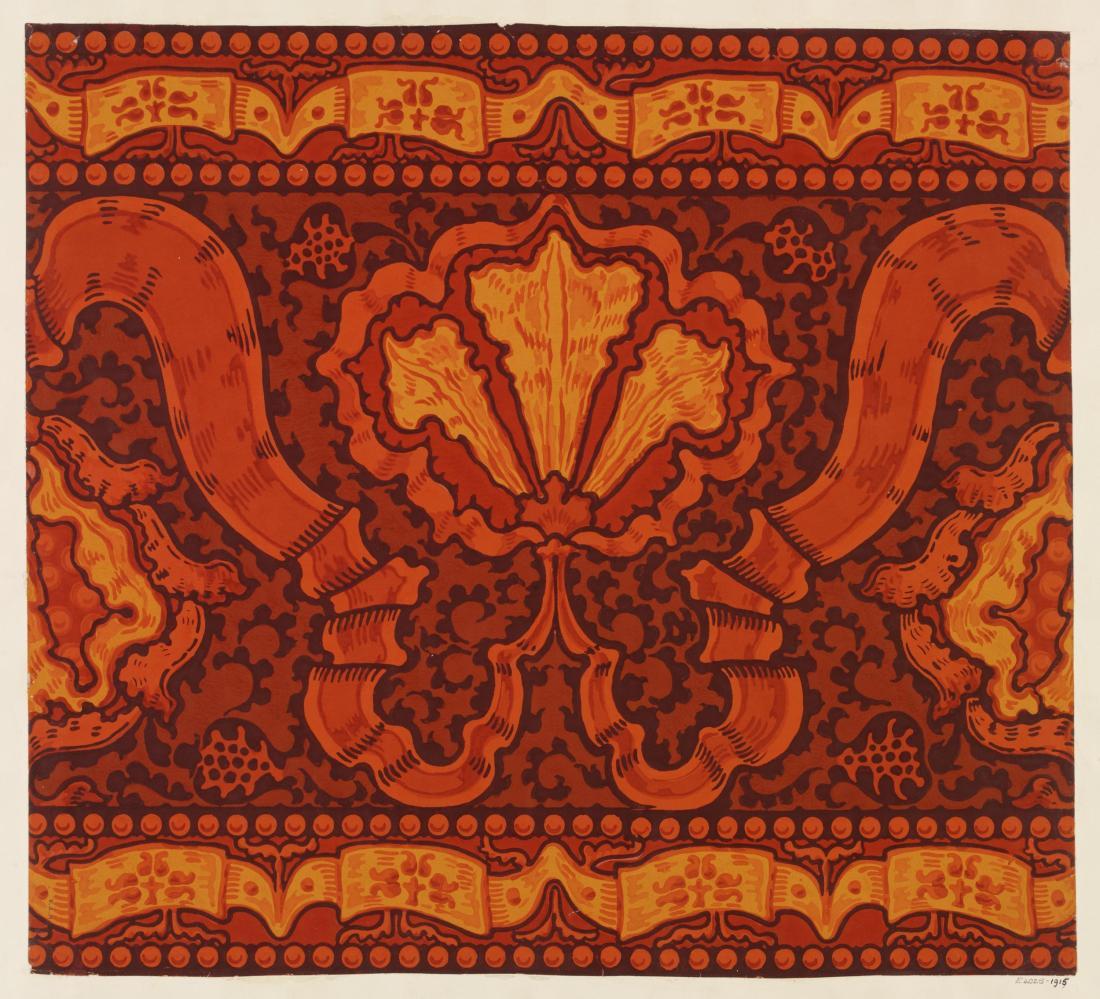 """Iris and Pomegranate."" Wallpaper frieze. 1891."