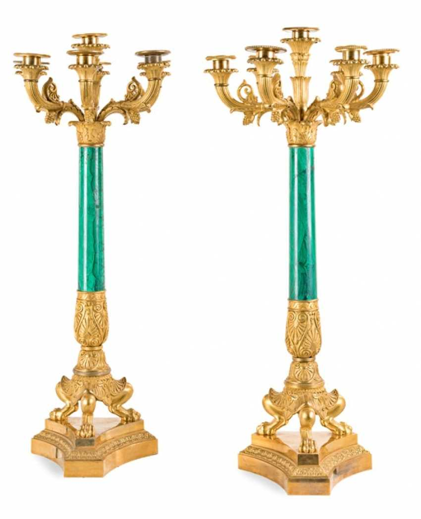 Pair of candelabra in the Empire style. ca. 1830.
