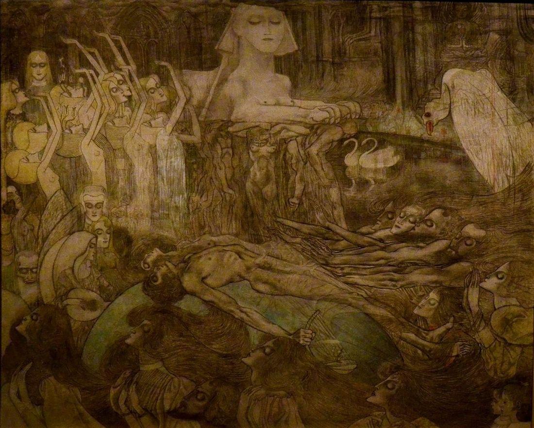 """""""Souls around the Sphinx."""" 1892-97."""