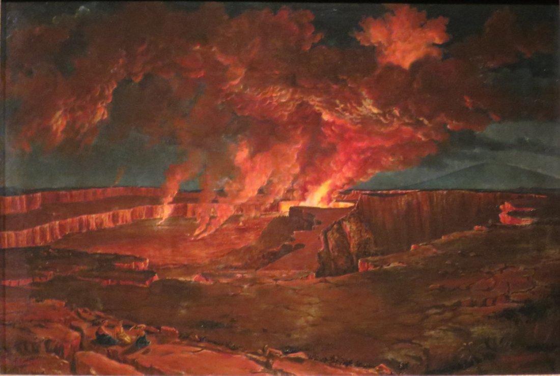 """""""Kilauea by Night."""" 1842."""