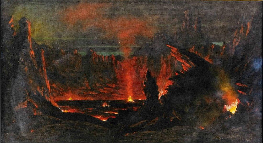"""""""Volcano, Kilauea, Island of Hawaii."""" 1885."""