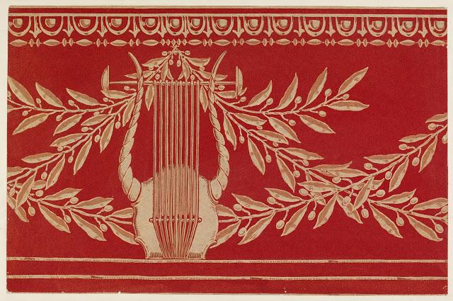 """Lyre and Garland."" Wallpaper frieze. 1911."