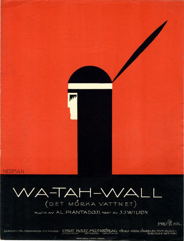 """Min lilla Wa-tah-wall"" (Dark Waters). Musicales collection. 1915."