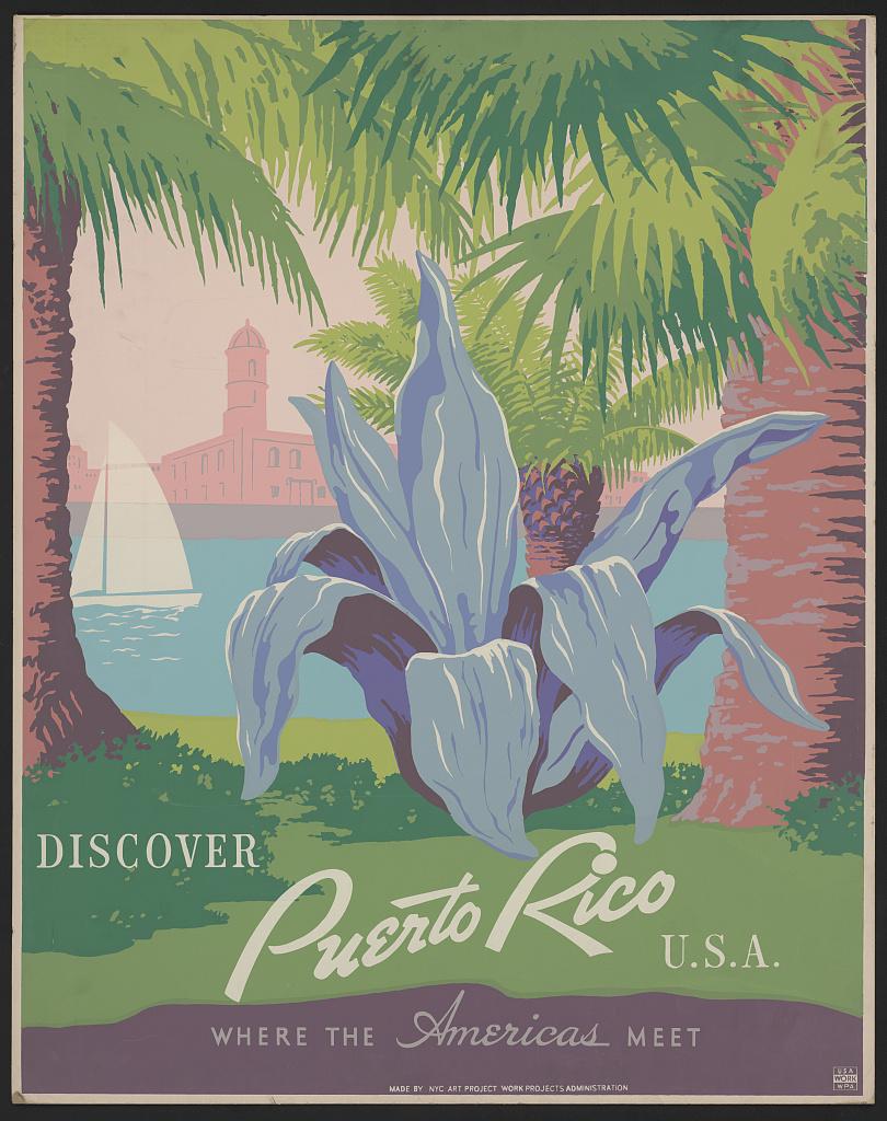 """Discover Puerto Rico USA where the Americas meet."" 1940."
