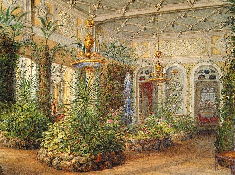 Winter Garden, Yusupov Palace, Saint Petersburg. 1852.