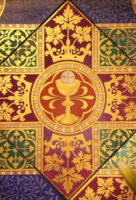 Floor tile.  Saint Giles, Cheadle.