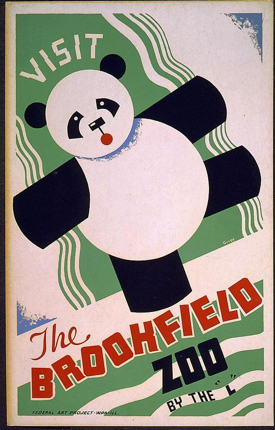 """Visit the Brookfield Zoo by the """"L"""". 1936-38."""