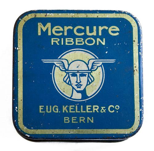 """Mercure"" ribbon. Eugene Keller and Company, Bern."