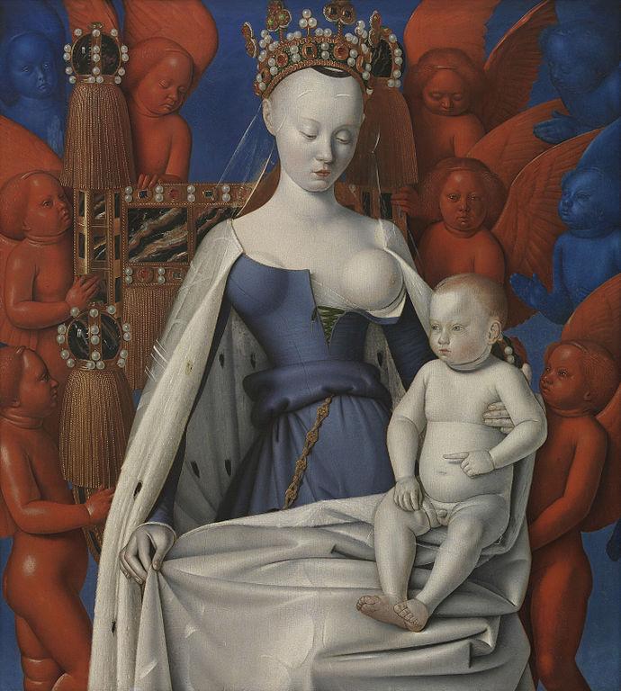 """""""Madonna lactans."""" (Agnes Sorel). 1452-58."""