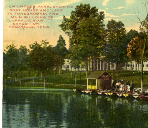 Chilhowee Park Boat House. 1910. Postcard.