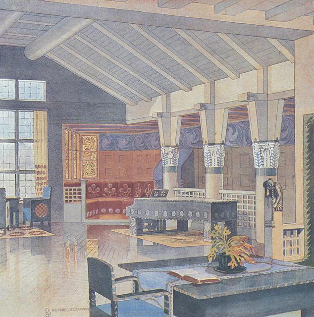 Grand salon, Hvittorp, 1902.