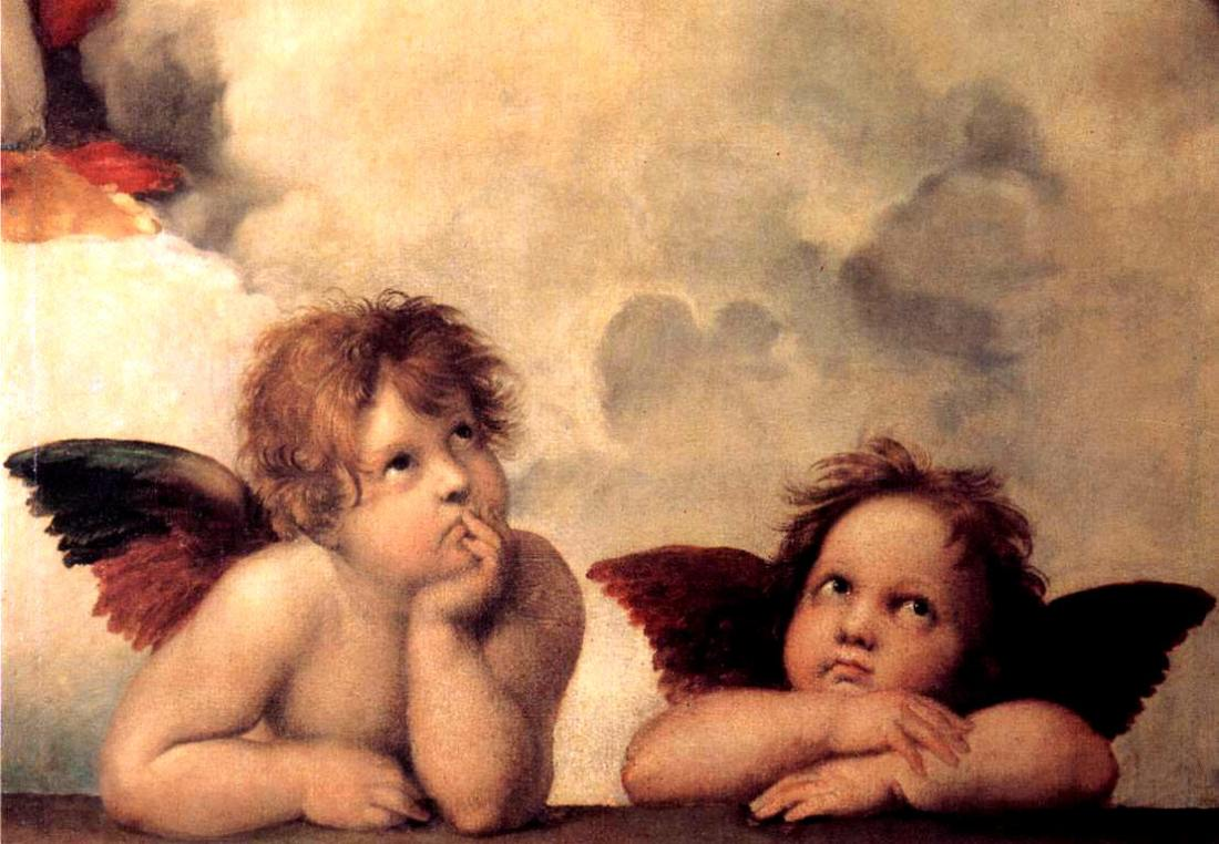 """Sistine Madonna"" (angel detail). 1512."