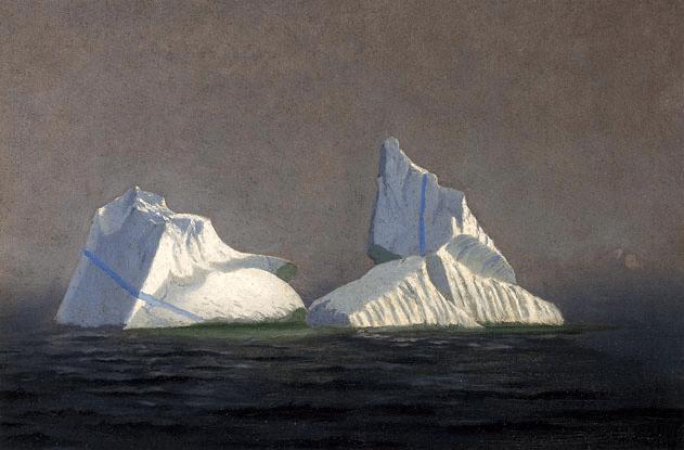 """""""Icebergs."""" 1865."""
