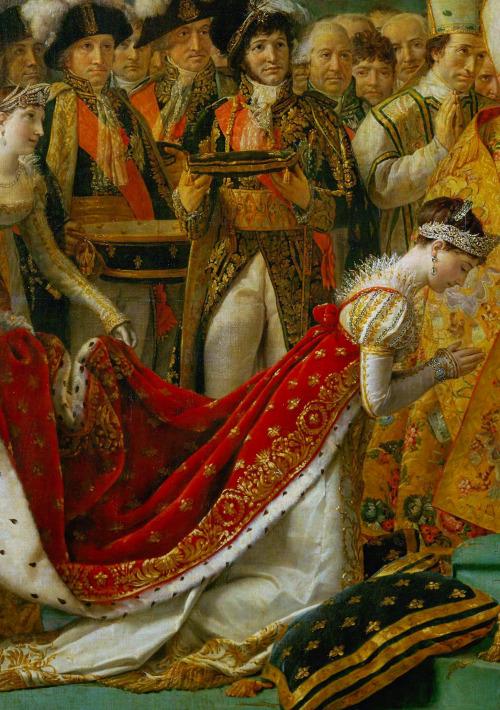 """The Coronation of Napoleon"" (detail). 1805-1807."