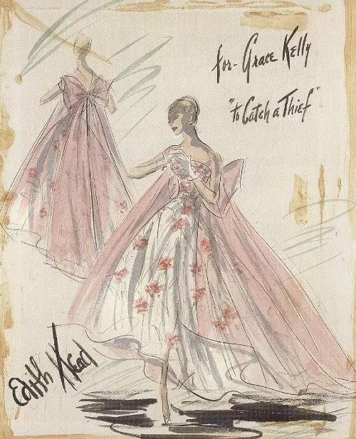 """""""To Catch a Thief."""" 1955. Costume for Grace Kelly."""