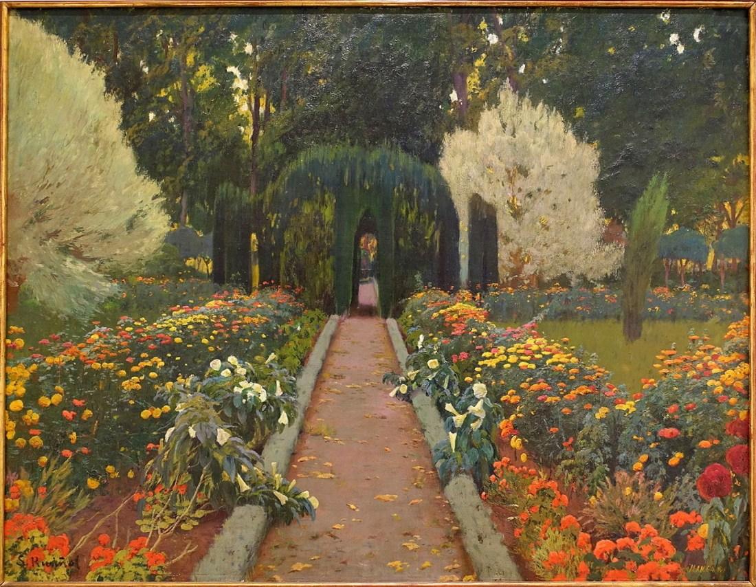 """""""Aranjuez Garden, Arbor, II."""" 1907."""