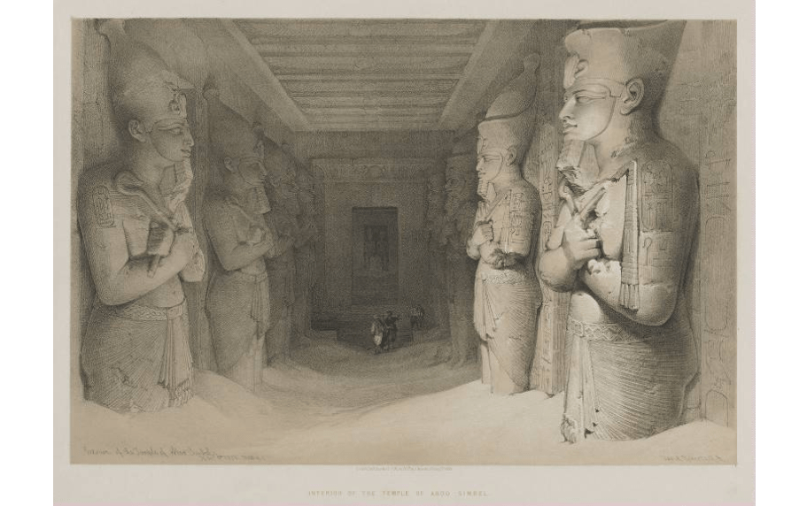 """""""Interior of the Temple of Aboo-Simbel."""""""