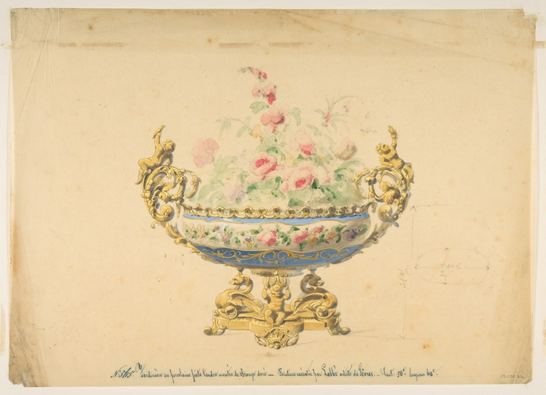 Design for a Jardiniere. 19th c.