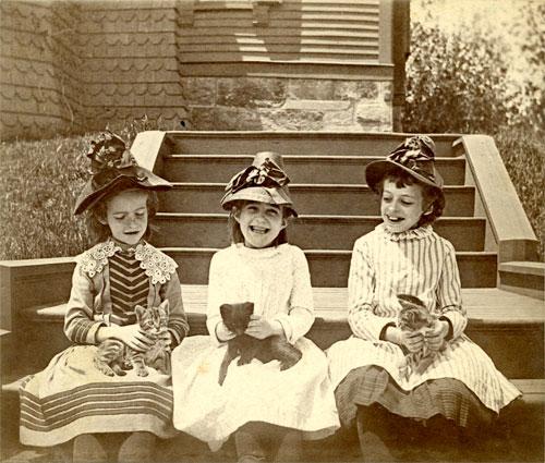 Children of Summit Avenue, Brookline. ca. 1885.
