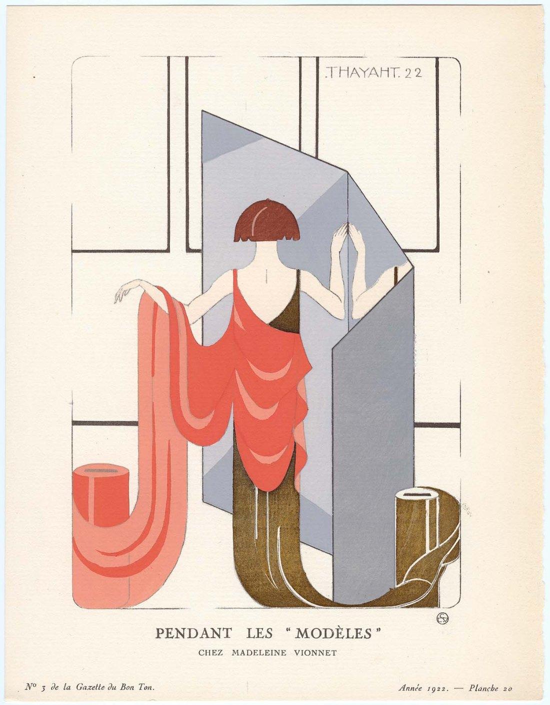 """""""Pendant Les 'Modèles' - Chez Madeleine Vionnet."""" Plate 20."""