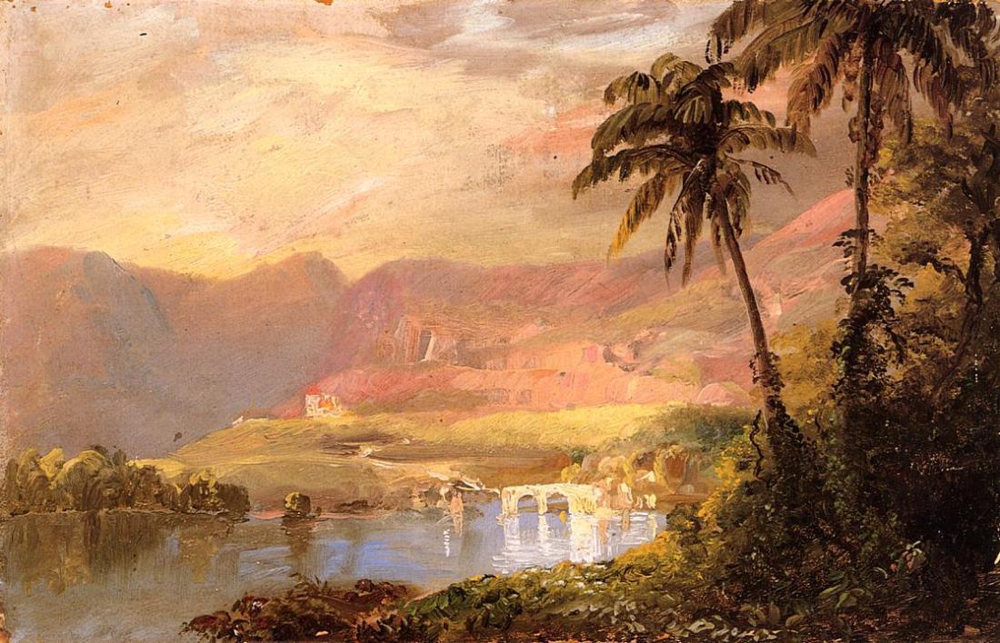 """""""Tropical landscape."""" 1853."""