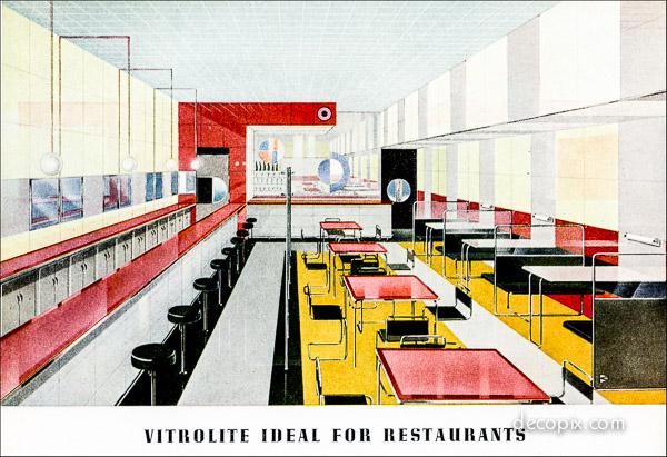 Vitrolite ideal for restaurants.