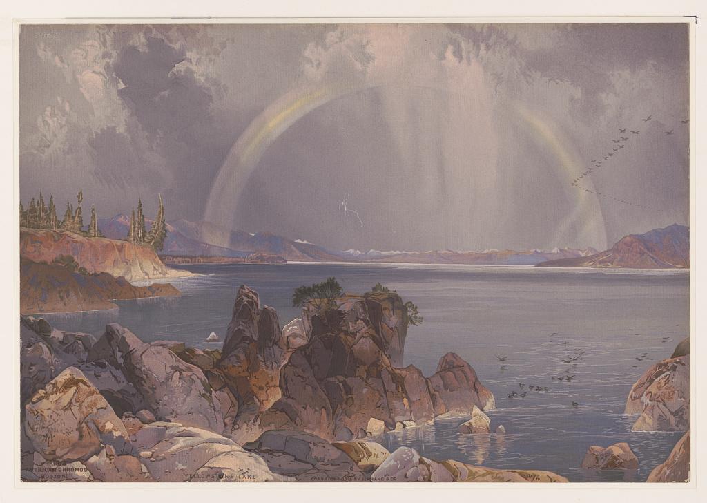 """""""Yellowstone Lake."""" ca. 1875."""