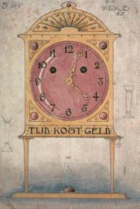 Design for a chimney clock. 1902-1903.