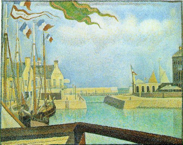 """""""Sunday at Port-en-Bessin."""" 1888."""