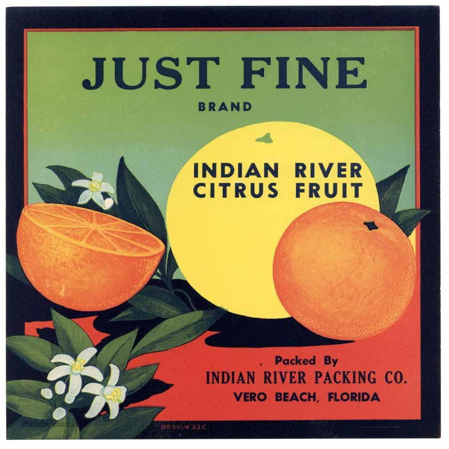 Just Fine brand Indian River citrus fruit.