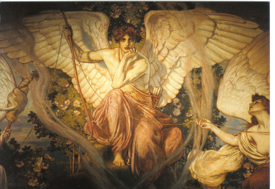 """""""Eros and the Goddesses of Destiny."""" 1908."""