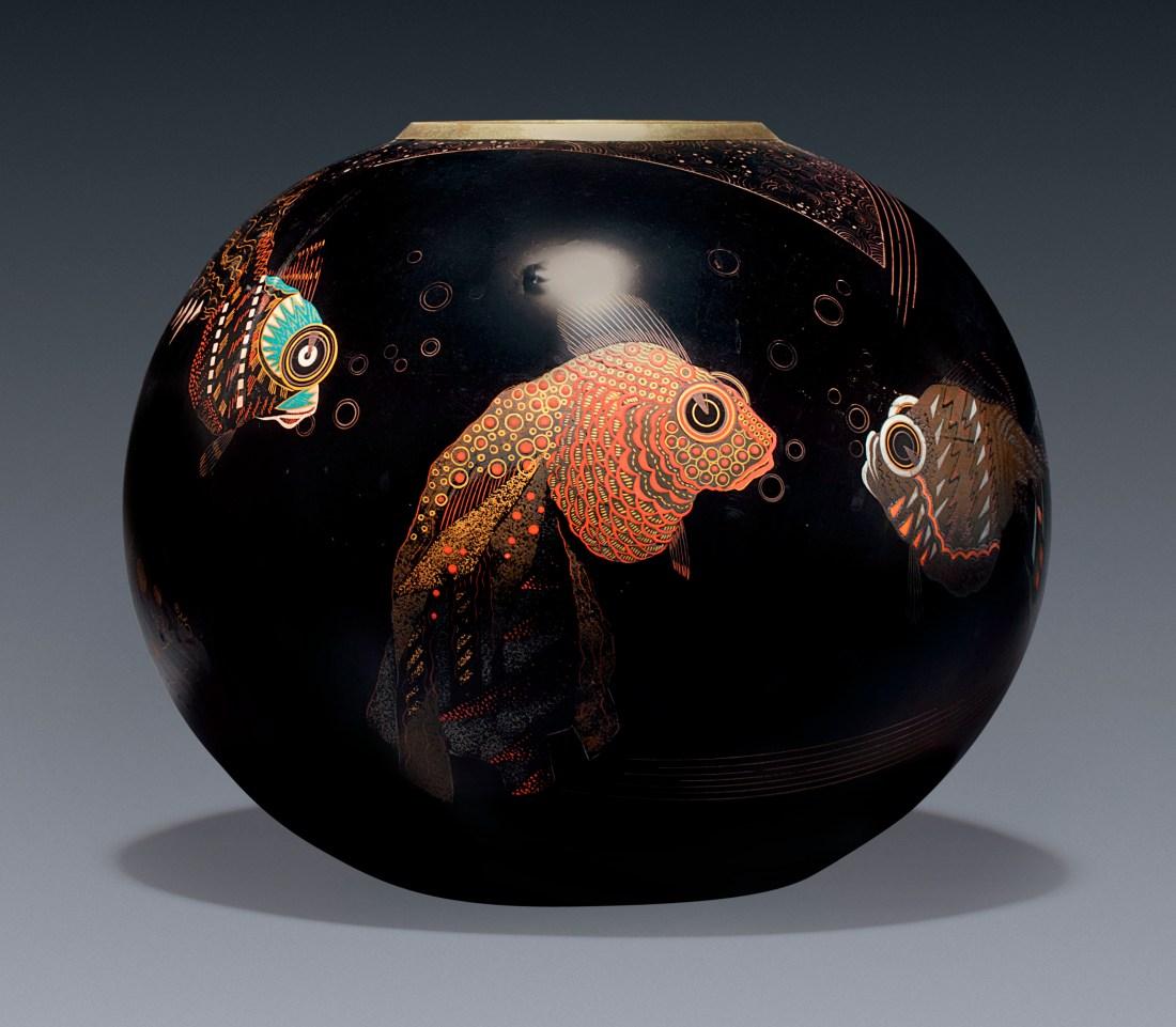 "Vase ""aux Poissons."" ca. 1928."