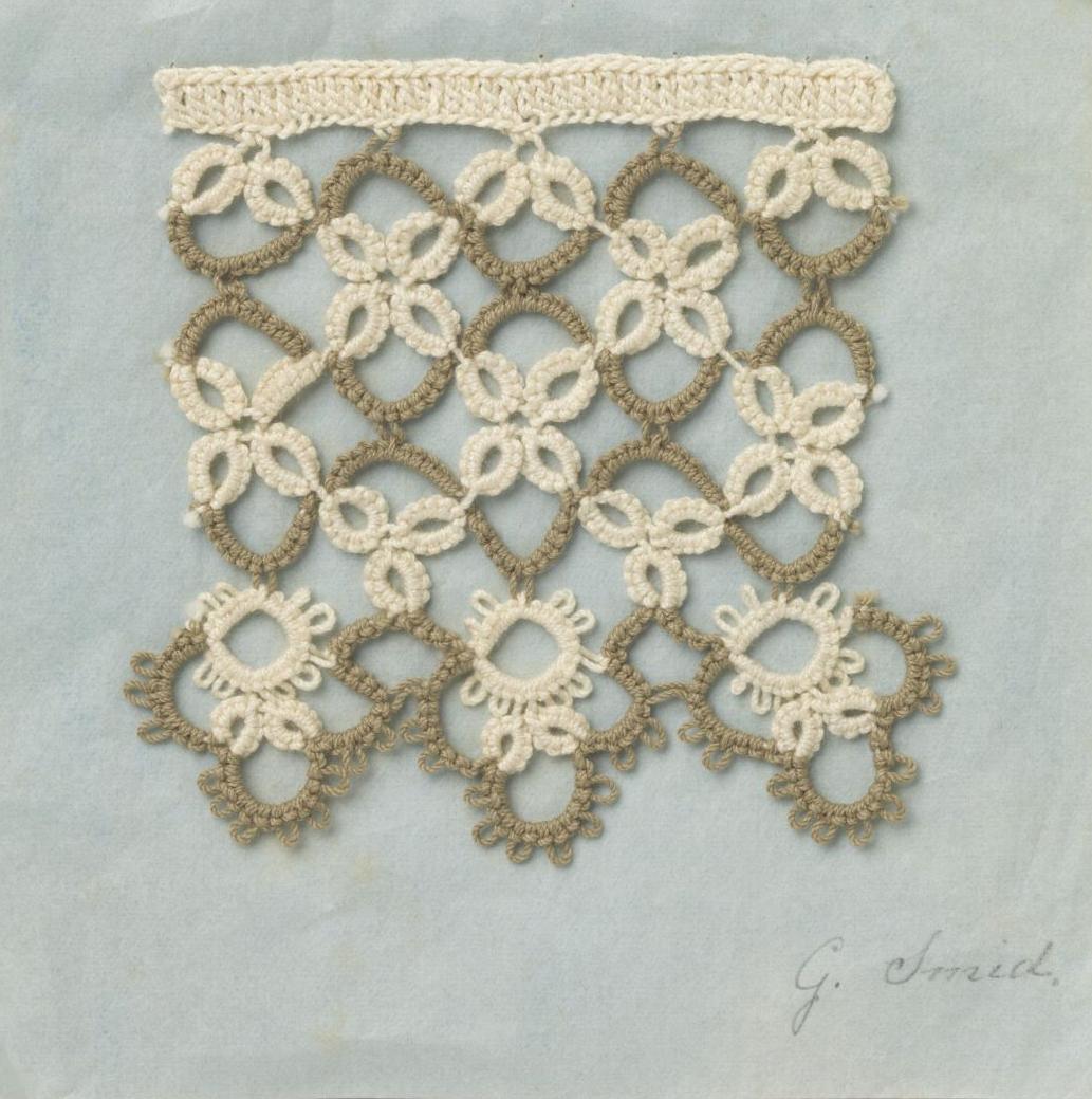 Workpiece made to earn a diploma. ca. 1890-1900.