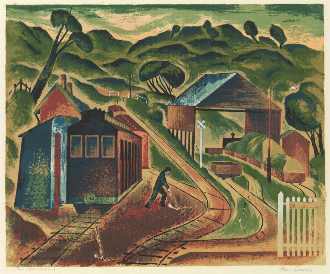 """""""Hill train terminus."""" 1948."""