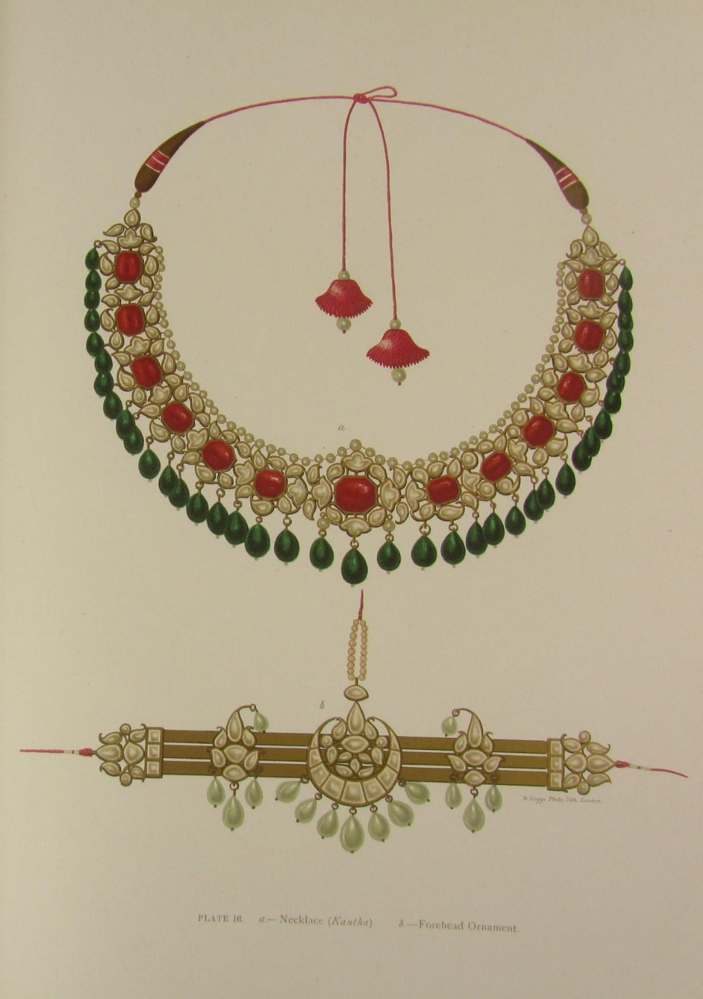 Necklace and forehead ornament. Plate 16.