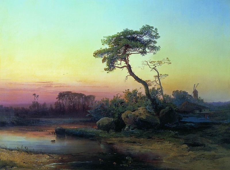 """""""Landscape with a Pine Tree."""" Undated."""