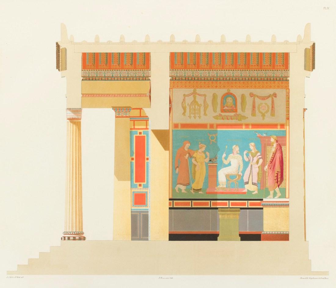 """Couple longitudinale du temple."" Plate IV. 1846."