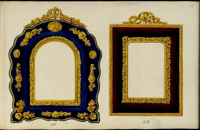 Two frames. 1852-1870.