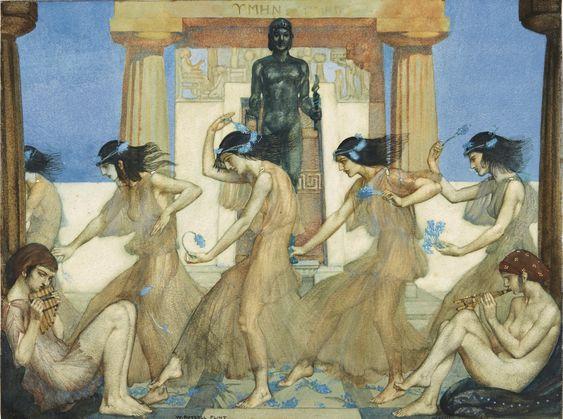 """Theocritus Idyll XVIII, chorus and musicians."" 1913."