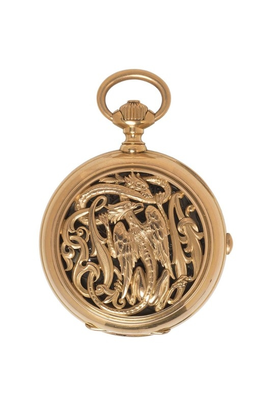 Watch with fighting chimeras. 1880.
